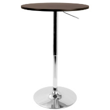 Elia Height Adjustable Bar Contemporary Table in Brown