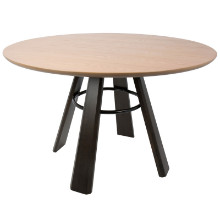 Lumisource DT-ELTN-E-OAK Elton Contemporary Dining Table in Oak Wood and Espresso