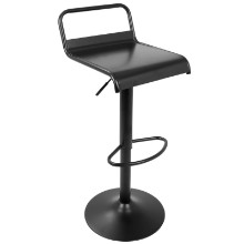 Emery Industrial Contemporary Barstool in Black -Set of 2