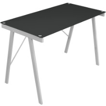 Exponent Contemporary Desk in Black and Silver