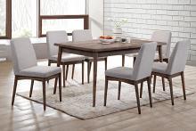 Poundex F2496-1805 7 pc Wildon home studio II brown finish wood mid century modern dining table set