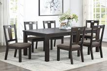 Poundex F2576-1832 7 pc Wildon home dark finish wood dining table set