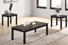 Poundex F3193 3 pc Charlton home bradford faux marble top wood coffee and end table set