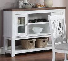 Poundex F6015 Adele maddison ii white two tone finish wood dining server buffet console