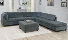 Poundex F826 8 pc Latitude run mckenny gray chenille fabric modular sectional sofa