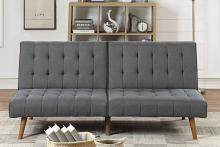 Poundex F8501 AJ homes studio lakeview winston porter kasen blue grey polyfiber sofa futon