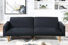 Poundex F8504 AJ homes studio lakeview winston porter kasen black polyfiber sofa futon
