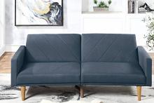 Poundex F8506 AJ homes studio lakeview winston porter kasen navy polyfiber sofa futon