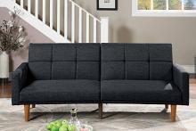 Poundex F8507 AJ homes studio lakeview winston porter kasen black polyfiber sofa futon