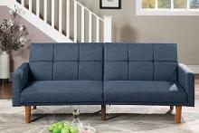 Poundex F8509 AJ homes studio lakeview winston porter kasen navy polyfiber sofa futon