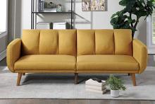 Poundex F8511 AJ homes studio lakeview winston porter kasen mustard polyfiber sofa futon