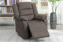 Poundex F86004 Joy Kona tan comfortable soft velvet power lift recliner chair