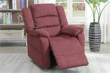 Poundex F86006 Joy Kona paprika red comfortable soft velvet power lift recliner chair