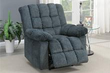 Poundex F86032 Joy Kona gray chenille fabric power motion recliner with USB power plug on side