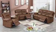 Poundex F86245-46 2 pc Latitude run power motion dark brown leatherette sofa and love seat set recliner ends