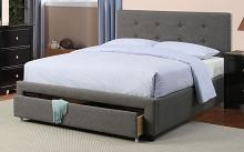 F9330Q Brayden studio laidley slate polyfiber queen bed set with drawers euro slat kit included