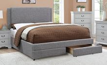 F9365Q Latitude run latimer steon ash polyfiber queen bed set with drawers euro slat kit included