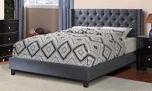 F9371Q A & J homes studio baku blue grey tufted polyfiber queen bed set euro slat kit included