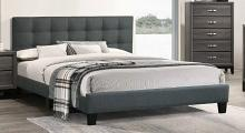 F9531Q Canora antoinette charcoal grey padded polyfiber queen bed set