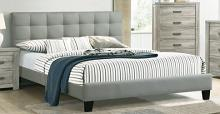 F9532Q Canora joan antoinette grey padded polyfiber queen bed set