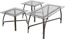 Signature Design by Ashley Liddy 3 Piece Occasional Table Set [FSD-TS3-39BZ-GG]