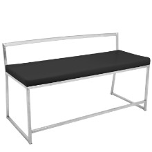 Fuji Contemporary Dining / Entryway Bench in Black