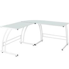 Gamma Contemporary Desk in White Frame and White