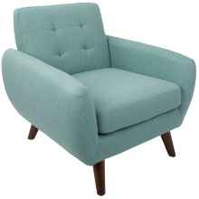 Hemingway Mid-Century Modern Accent Chair in Teal