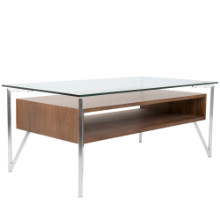 Hover Coffee Contemporary Table in Walnut