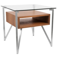 Hover End Contemporary Table in Walnut