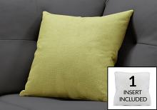 """PILLOW - 18""""X 18"""" / PATTERNED LIME GREEN / 1PC"""
