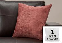 """PILLOW - 18""""X 18"""" / SOLID DUSTY ROSE / 1PC"""