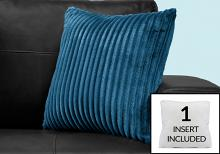 """PILLOW - 18""""X 18"""" / BLUE ULTRA SOFT RIBBED STYLE / 1PC"""