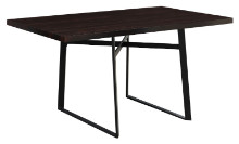 "Dining Table - 36""X 60"" / Cappuccino / Black Metal"