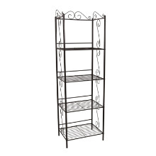 "Bookcase - 70""H / Copper Metal Etagere"