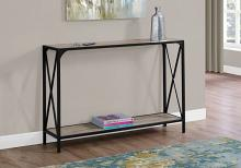 """ACCENT TABLE - 48""""L / DARK TAUPE / BLACK HALL CONSOLE"""