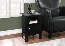 Accent Table - Black / Grey Top Night Stand With Storage