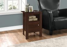 Accent Table - Cherry Night Stand With Storage