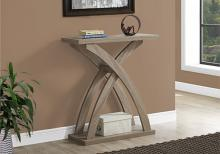"Accent Table - 32""L / Dark Taupe Hall Console"
