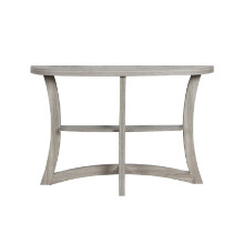 "ACCENT TABLE - 47""L DARK TAUPE HALL CONSOLE"