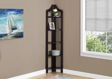 """Bookcase - 72""""H / Cappuccino Corner Accent Etagere"""