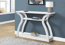 "Accent Table - 47""L / White Hall Console"