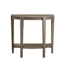 "ACCENT TABLE - 36""L DARK TAUPE HALL CONSOLE"