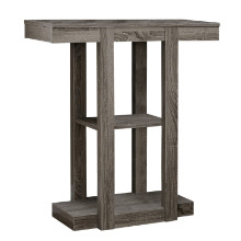 """ACCENT TABLE - 32""""L DARK TAUPE HALL CONSOLE"""