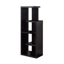 "BOOKCASE - 48""H CAPPUCCINO ACCENT DISPLAY UNIT"