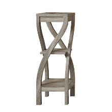 """ACCENT TABLE - 32""""H DARK TAUPE"""