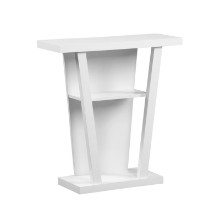 "Accent Table - 32""L / White Hall Console"