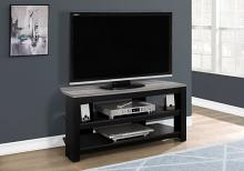 "Tv Stand - 42""L / Black / Grey Top Corner"