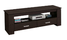 "TV STAND - 48""L CAPPUCCINO WITH 2 STORAGE DRAWERS"