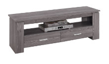 "TV STAND - 48""L GREY WITH 2 STORAGE DRAWERS"